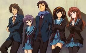 Picture Anime, Ken, The Melancholy of Haruhi Suzumiya, Yuki Nagato, Haruhi Suzumiya, Itsuki Koizumi., Mikuru Asa
