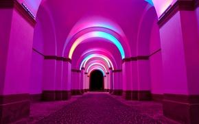 Wallpaper light, paint, arch, arcade