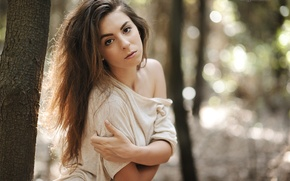Picture forest, look, girl, photographer, Giovanni Zacche