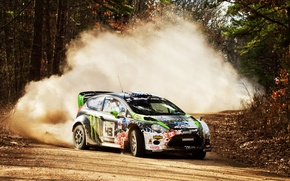 Picture Stones, Drift, 2012, Dirt, rally, WRC, Showdown, Ford Fiesta
