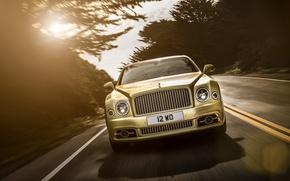 Picture speed, track, Bentley, Mulsanne