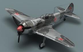 Wallpaper propeller, the plane, La-7, Soviet fighter