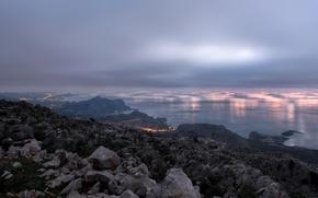 Picture sunrise, Greece, Rhodes