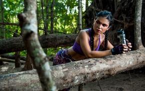 Picture girl, Luz, face, sports, figure, nature, respite, style
