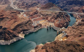 Picture nature, lake, river, height, panorama, dam