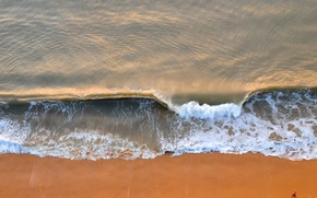 Picture sea, wave, people