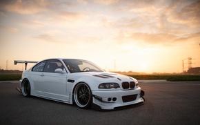 Picture BMW, E46, low, stance, Work, Wide, Work VS-XX, BellyScraper, Voltex, WideBody, GTR widebody