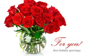 Wallpaper flowers, roses, bouquet, red, vase
