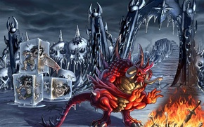 Picture ice, Frozen, Hell, the devil