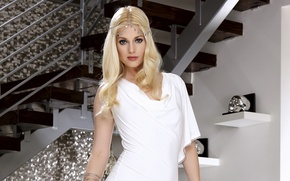 Picture girl, skull, beauty, stairs., Charlotte Stokely