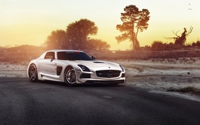 Picture car, tuning, Mercedes, Mercedes SLS, tuning, rechange, Black Series, hq Wallpapers, William Stern, RennTech