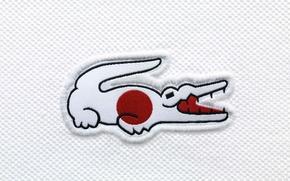 Picture Japan, crocodile, flag, Japan, Lacoste, flag