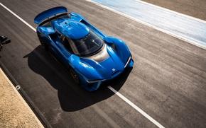 Picture blue, sports car, Metallic, 2017, NIO EP9