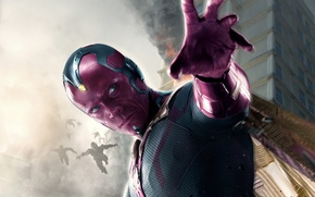 Wallpaper Action, Sci-Fi, Age, Paul Bettany, Avengers, Blue, Dark, Film, Super, Enemy, Red, Wallpaper, Fantasy, Walt ...