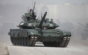 Picture road, tank, T-90, The armed forces of Russia, tankers, Betonka
