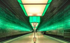 Picture metro, train, station, Peron