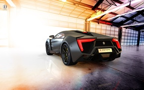 Picture car, supercar, supercar, black, Lykan Hypersport, W Motors, UHD