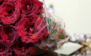 Picture macro, flowers, roses, bouquet, al