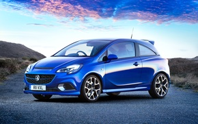 Picture the sky, blue, car, Vauxhall, Corsa