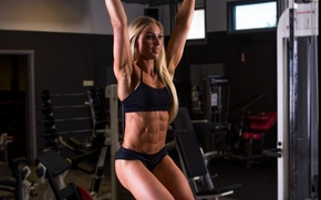 Picture female, workout, fitness, abs, bodybuilder