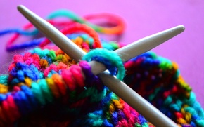 Picture thread, spokes, knitting