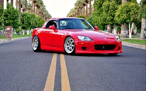 Picture red, honda, road, s2000