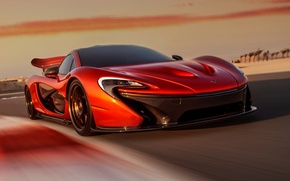 Picture Concept, the sky, orange, McLaren, the concept, supercar, the front, McLaren