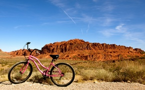 Picture nature, mood, bike, Nevada, halt, Valley of Fire, state park