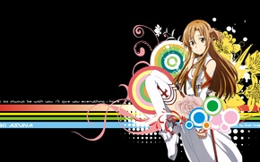 Wallpaper look, smile, Anime, Sword art online, Yuuki Asuna, Sword art online, Yuuki Asuna