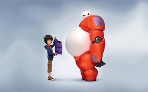 Picture Action, Boy, T.J. Miller, Big Hero 6, Violet, Tomago, Rubber, Fredzilla, Orange, White, Film, Family, ...