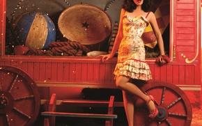 Picture girl, dress, circus, Natalia Oreiro