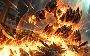 Picture fire, map, being, art, WoW, World of Warcraft, elemental, Hearthstone, Blackrock Mountain, Demonwrath, Demonic wrath
