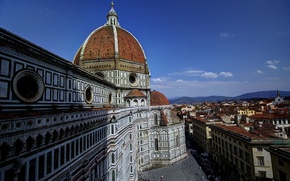 Wallpaper Italy, Florence, Italy, Florence, The Cathedral of Santa Maria del Fiore, Florence Cathedral, The Basilica ...