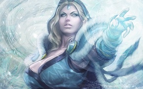 Picture Girl, Game, Game, Crystal Maiden, Defense of the Ancients, Dota 2, DotA 2, Rylai