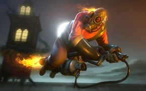 Picture Team Fortress 2, fan art, pyro, flamethrower, Flamethrower, Pyro