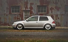 Picture grey, volkswagen, profile, Golf, golf, Volkswagen, MK4