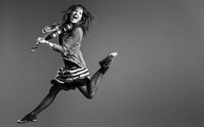 Picture violin, music, violin, Lindsey Stirling, in flight, Lindsay Stirling