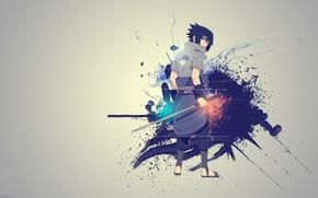 Wallpaper creative, sword, Sasuke, Naruto, Naruto, Sasuke Uchiha, Kusanagi