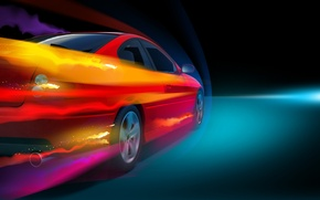 Picture light, speed, Pontiac, car, GTO, the air, coupe, stream