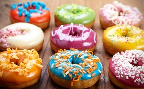 Picture donuts, cakes, sweet, glaze, donuts