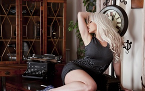 Picture girl, model, watch, interior, blonde, Jennifer Jade