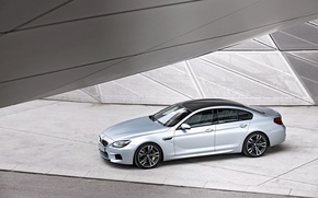 Picture bmw, structure, gran coupe, metal glass