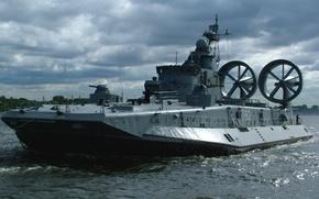 "Picture ship, pillow, air, landing, The Baltic Fleet, ""Mordovia"""