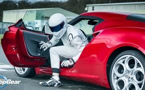 Picture Helmet, Racer, Alfa, Romeo, Stig, The Stig, Top, Gear