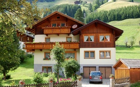 Picture the city, house, photo, Austria, mansion, Tirol, Sankt Jakob in Defereggen