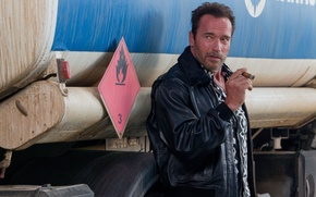Picture cigar, Arnold Schwarzenegger, Arnie, The Expendables 3, The expendables 3