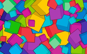 Picture abstraction, background, cubes, bright, cube, bright, art, cube, fone