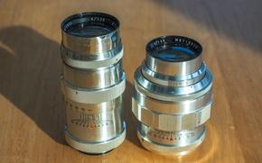 Picture shadows, table, M42, lenses, Jupiter 11, M39