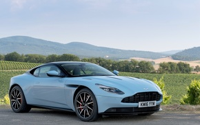 Picture car, the sky, asphalt, Aston Martin, car, sky, wallpapers, DB11