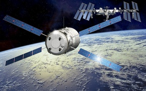 Picture space, ship, space, cargo, automatic, «ATV»